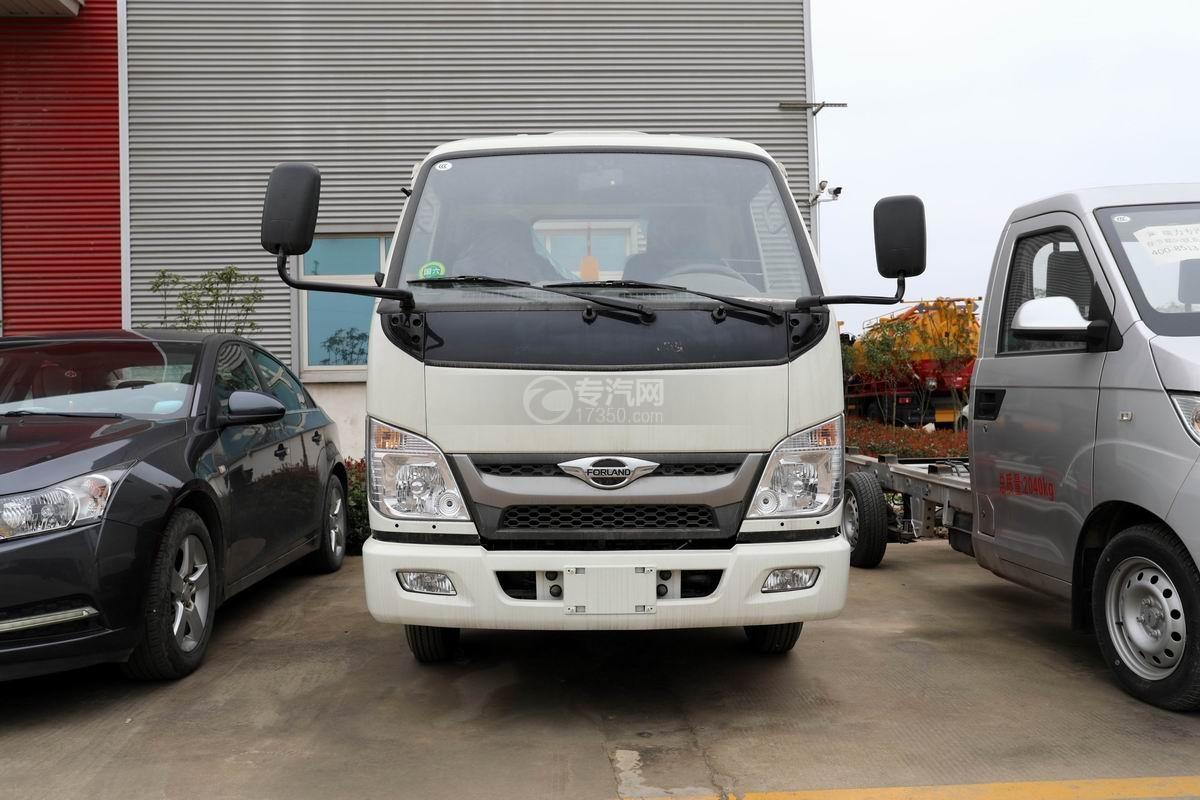 福田時代領航國六小卡之星車廂可卸式垃圾車正前方圖