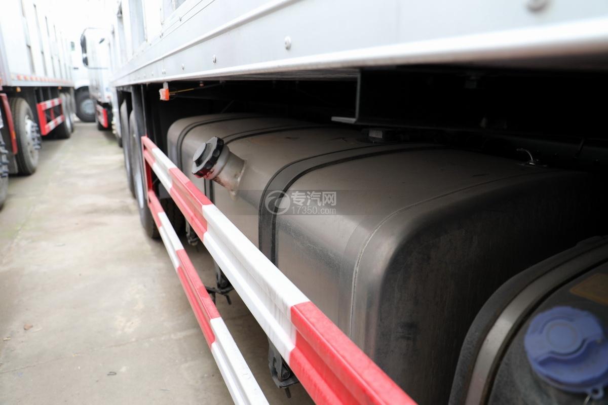 福田歐曼CX12前四后八國六鋁合金廂式畜禽運輸車油箱