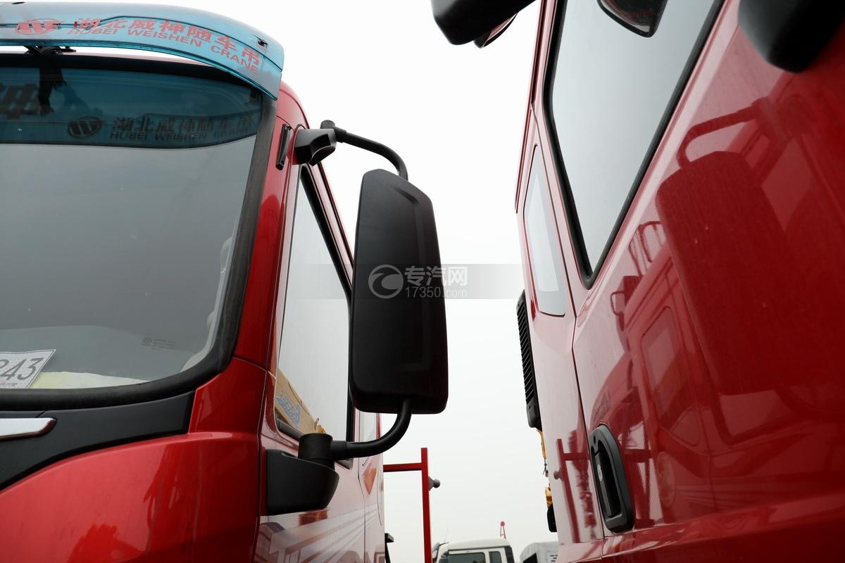 東風華神T5后雙橋國六12噸直臂隨車吊后視鏡