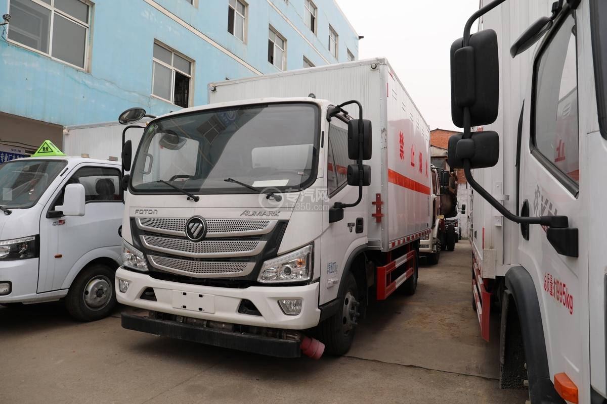 福田歐馬可S3國六4.1米易燃氣體廂式運輸車左前圖