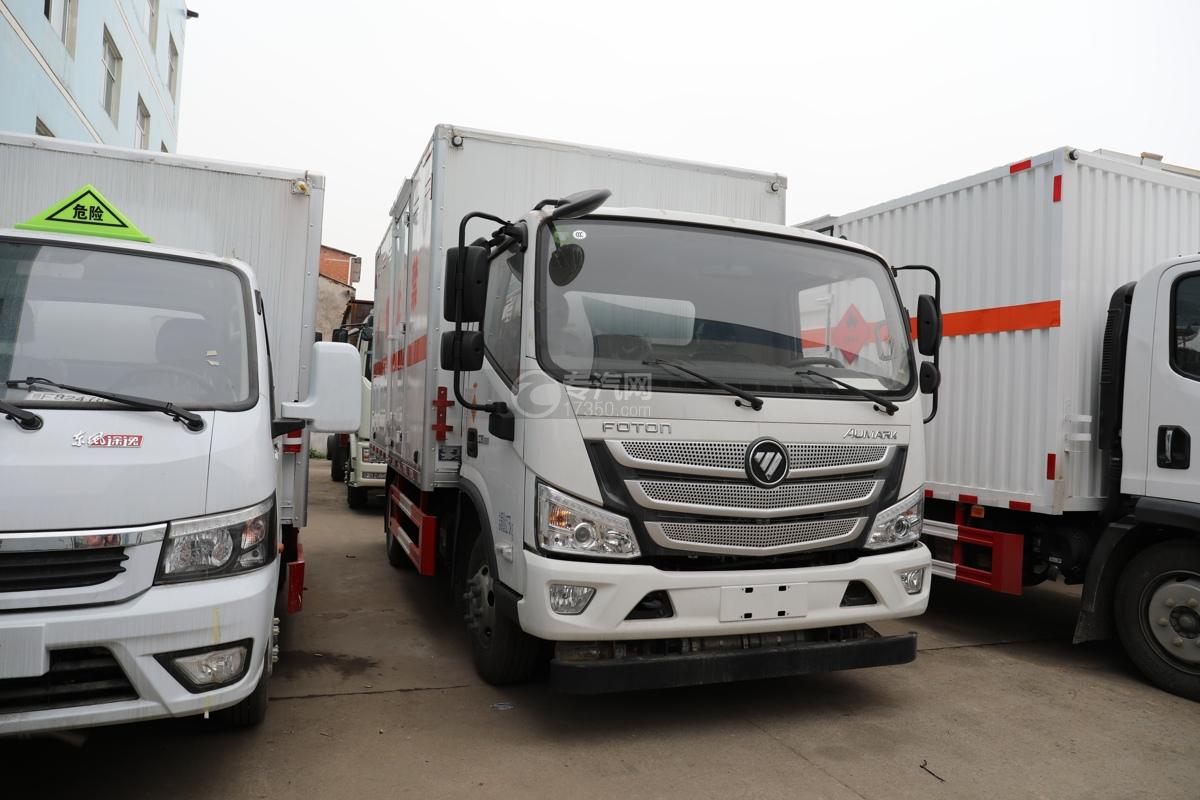 福田歐馬可S3國六4.1米易燃氣體廂式運輸車右前圖
