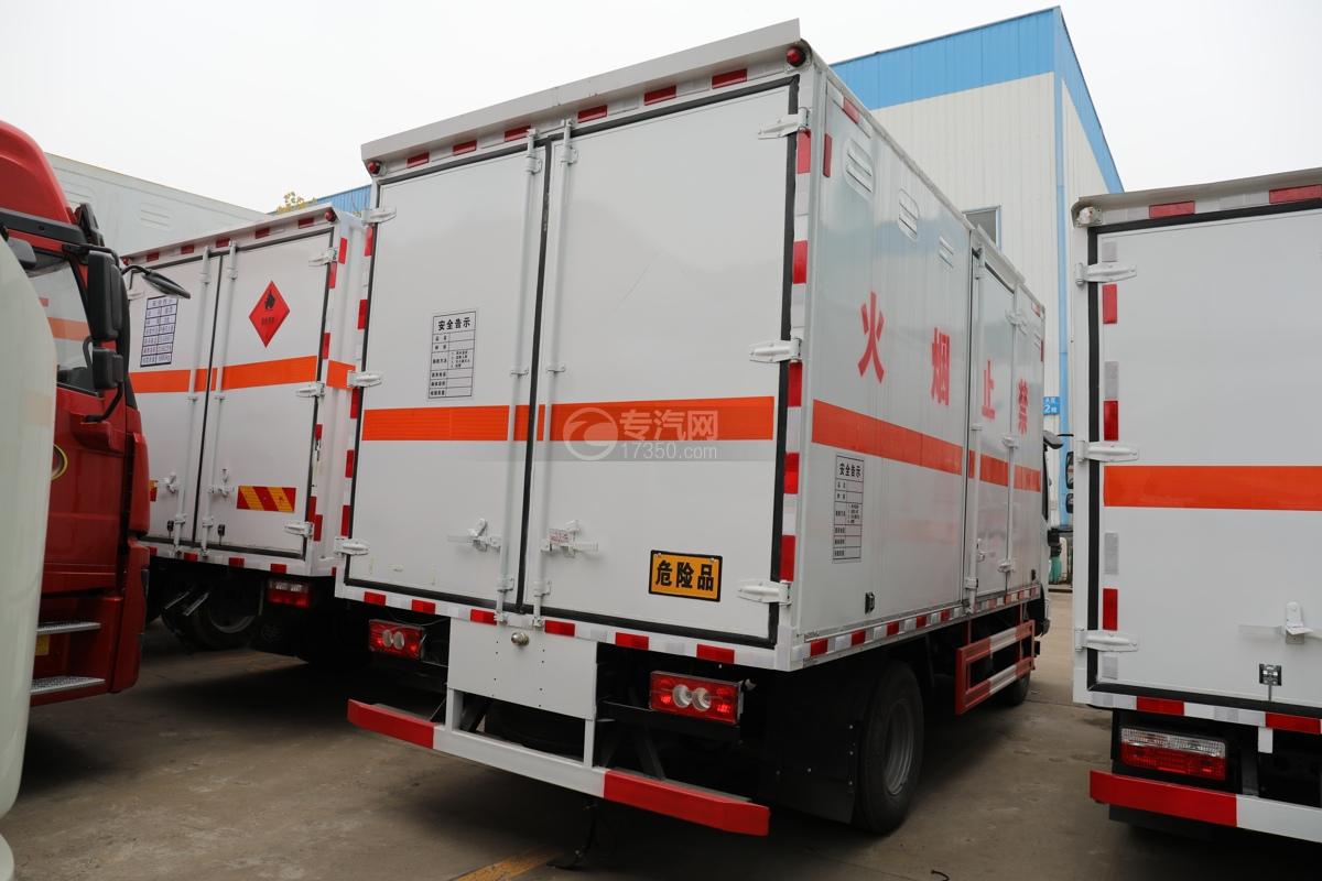 福田歐馬可S3國六4.1米易燃氣體廂式運輸車右后圖