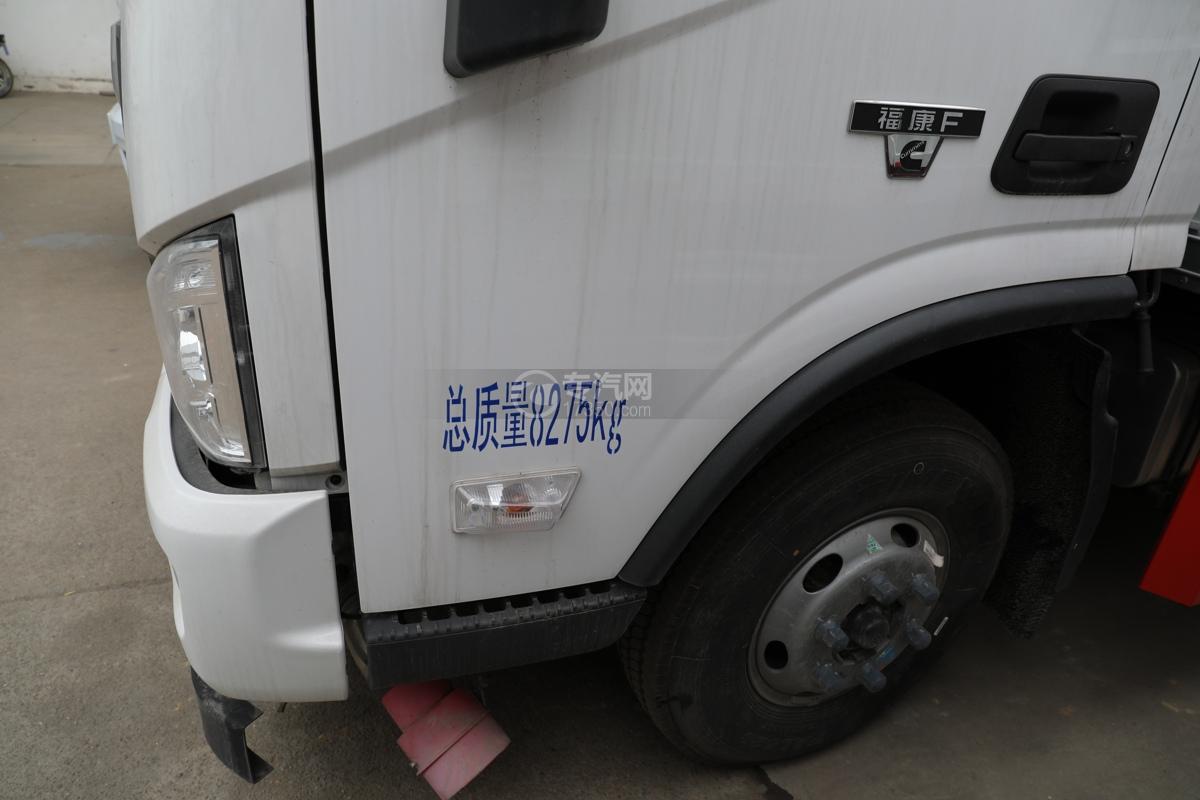 福田歐馬可S3國六4.1米易燃氣體廂式運輸車門標識