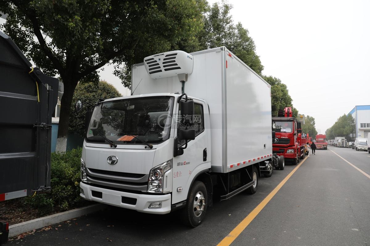 跃进超运C500国六4.09米冷藏车左前图
