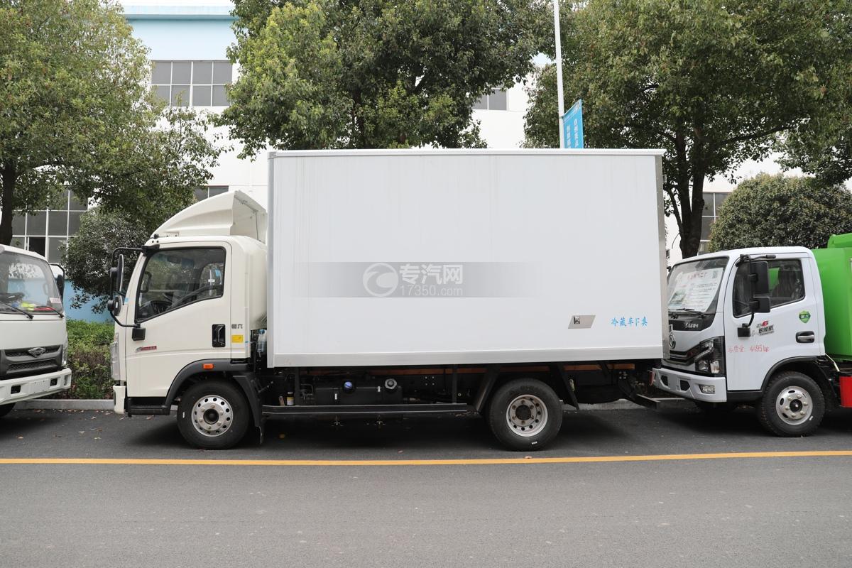 重汽HOWO悍将国六4.1米冷藏车左侧图