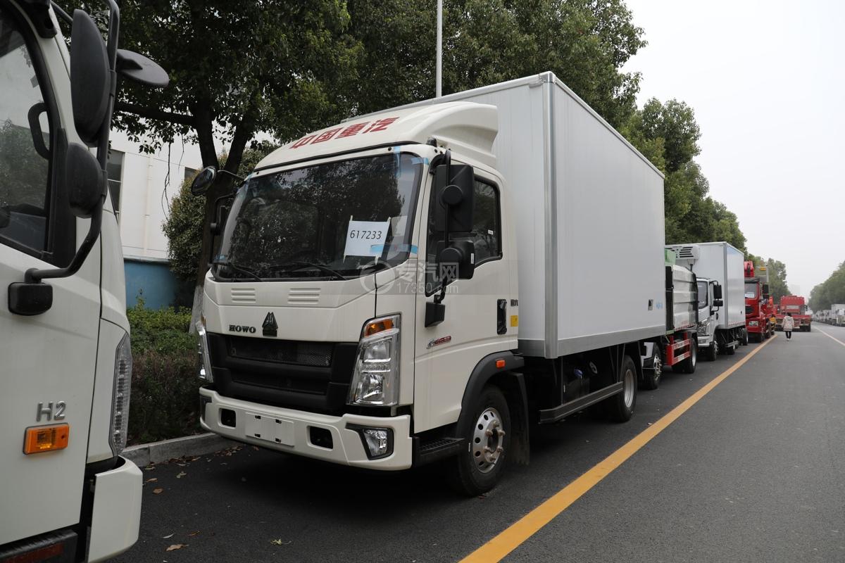 重汽HOWO悍将国六4.1米冷藏车左前图