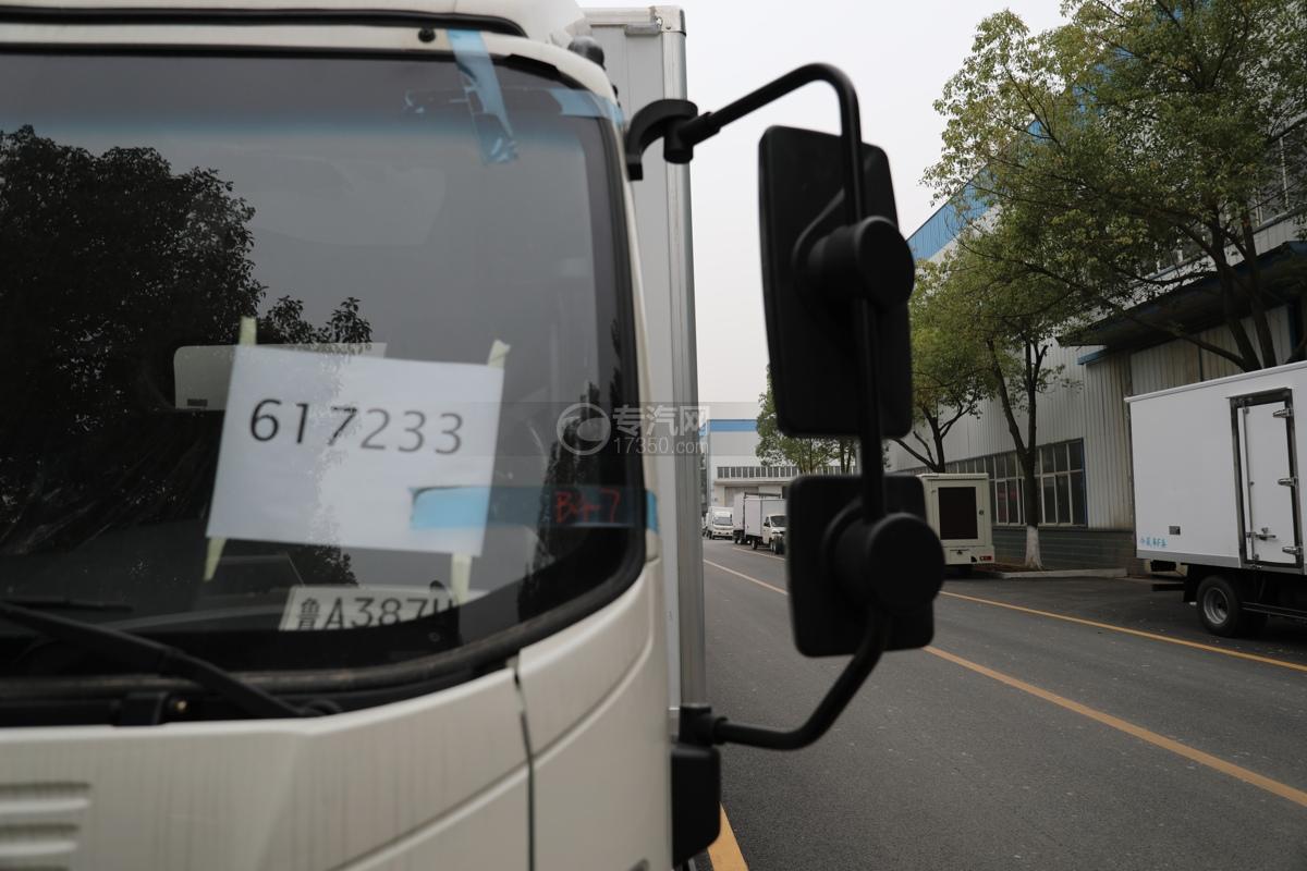 重汽HOWO悍将国六4.1米冷藏车左后视镜