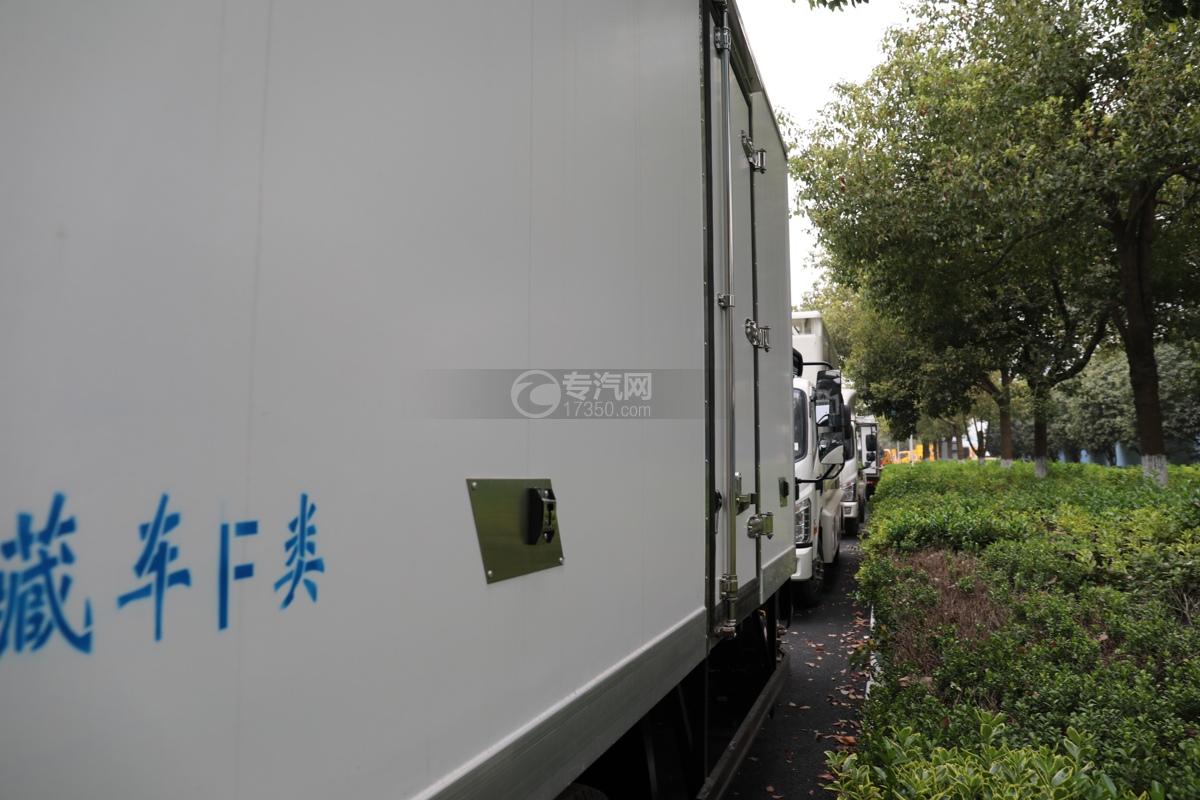 重汽HOWO悍将国六4.1米冷藏车侧门