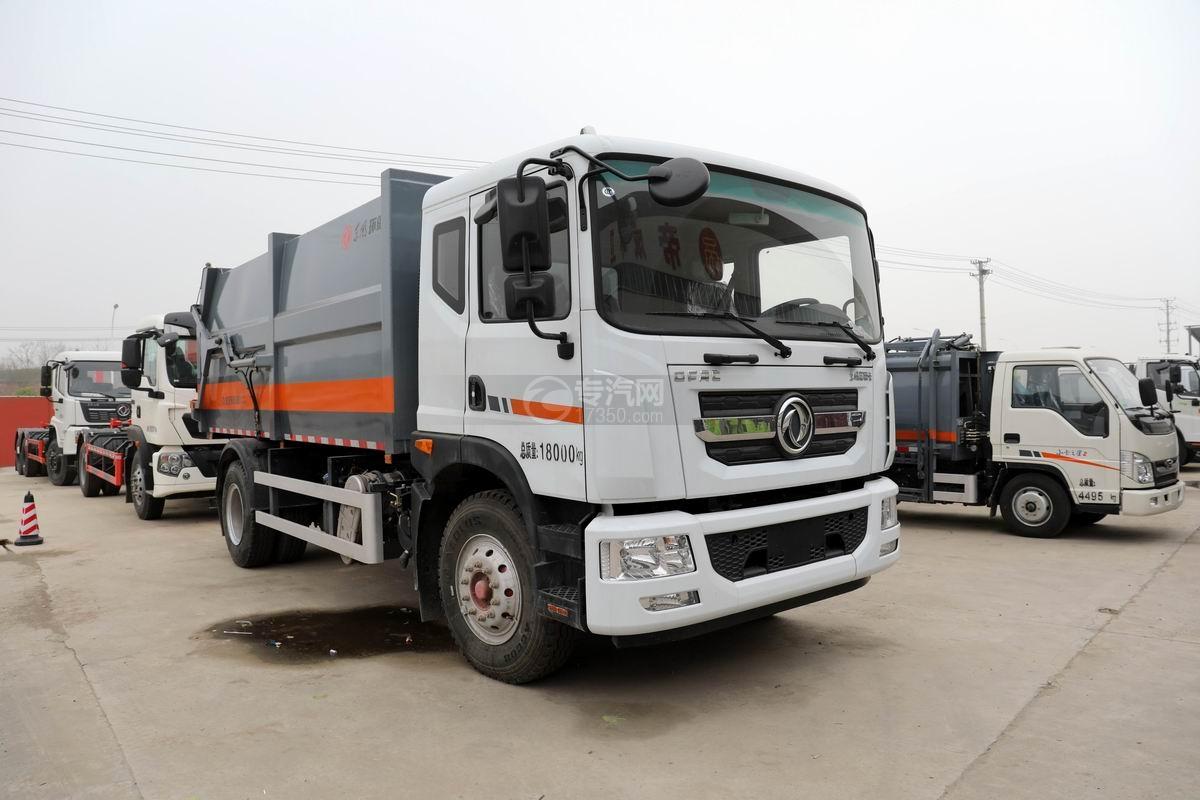 東風多利卡D9國六對接式垃圾車