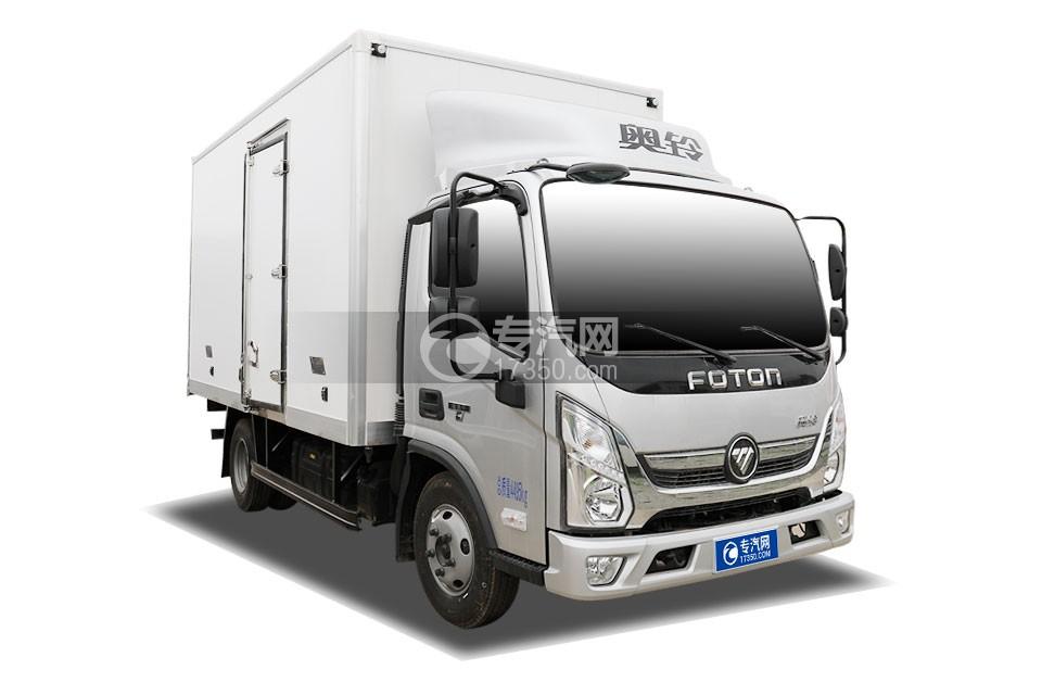 福田奥铃速运国六4.08米冷藏车右前图