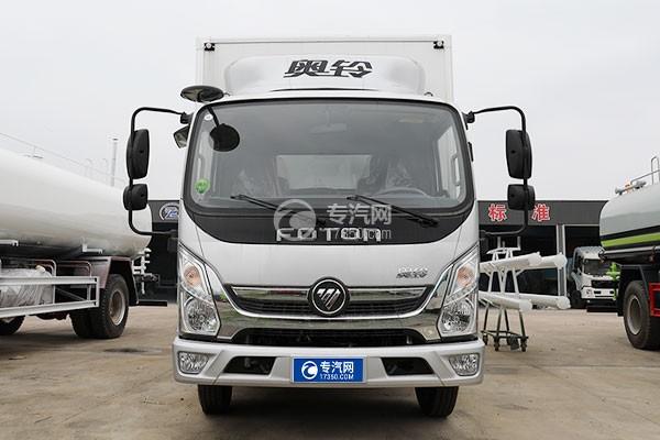 福田奥铃速运国六4.08米冷藏车车前图