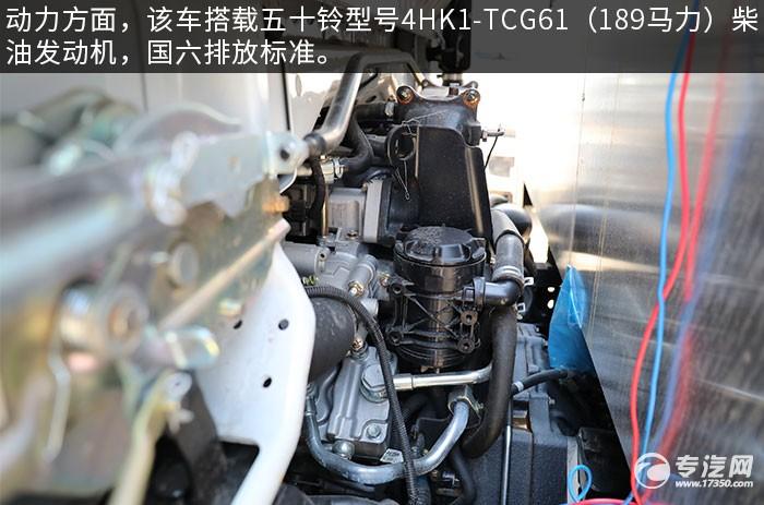 庆铃五十铃国六LED广告宣传车评测发动机