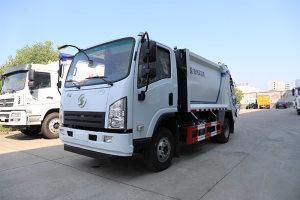 陕汽轩德X9国六压缩式垃圾车操作视频
