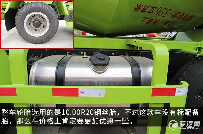 湖北大运F6小三轴国五5.96方搅拌车评测轮胎、油箱