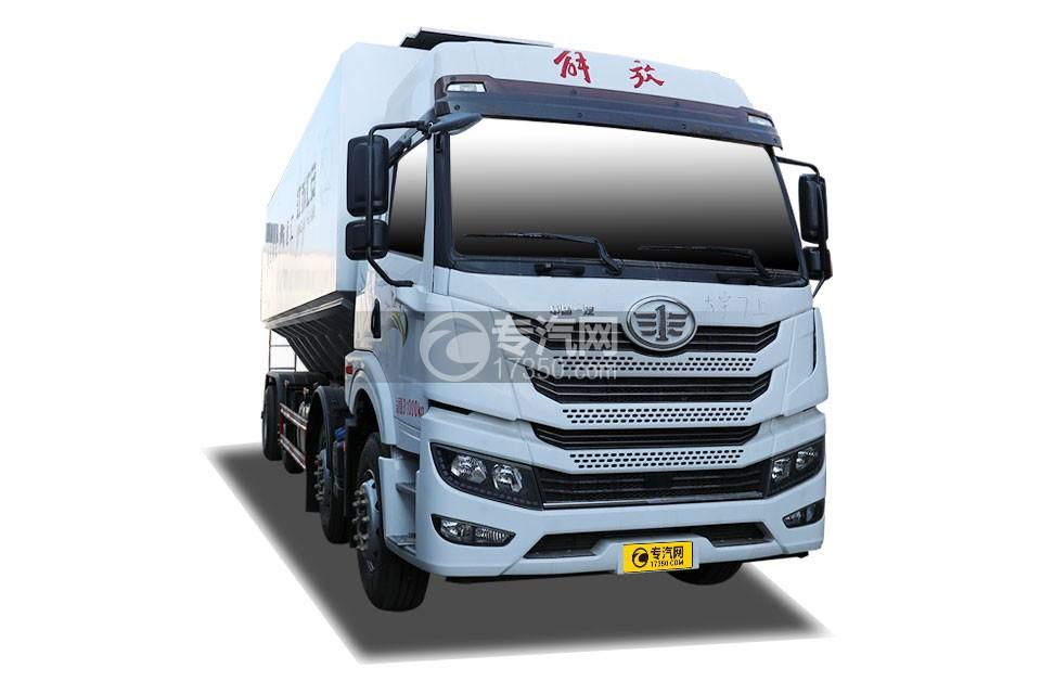 解放悍V2.0国五前四后六散装饲料运输车(液压绞龙)