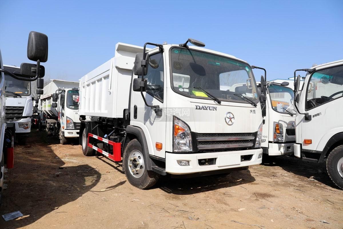大運奧普力國六車廂可卸式垃圾車(帶翼展垃圾箱)