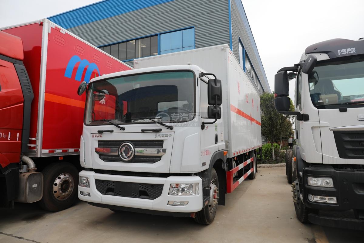 東風D9國六7.65米易燃氣體廂式運輸車