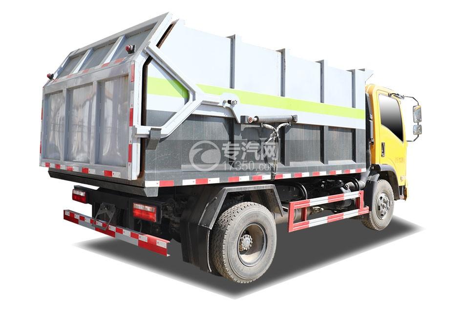 东风福瑞卡国六垃圾转运车侧后方图