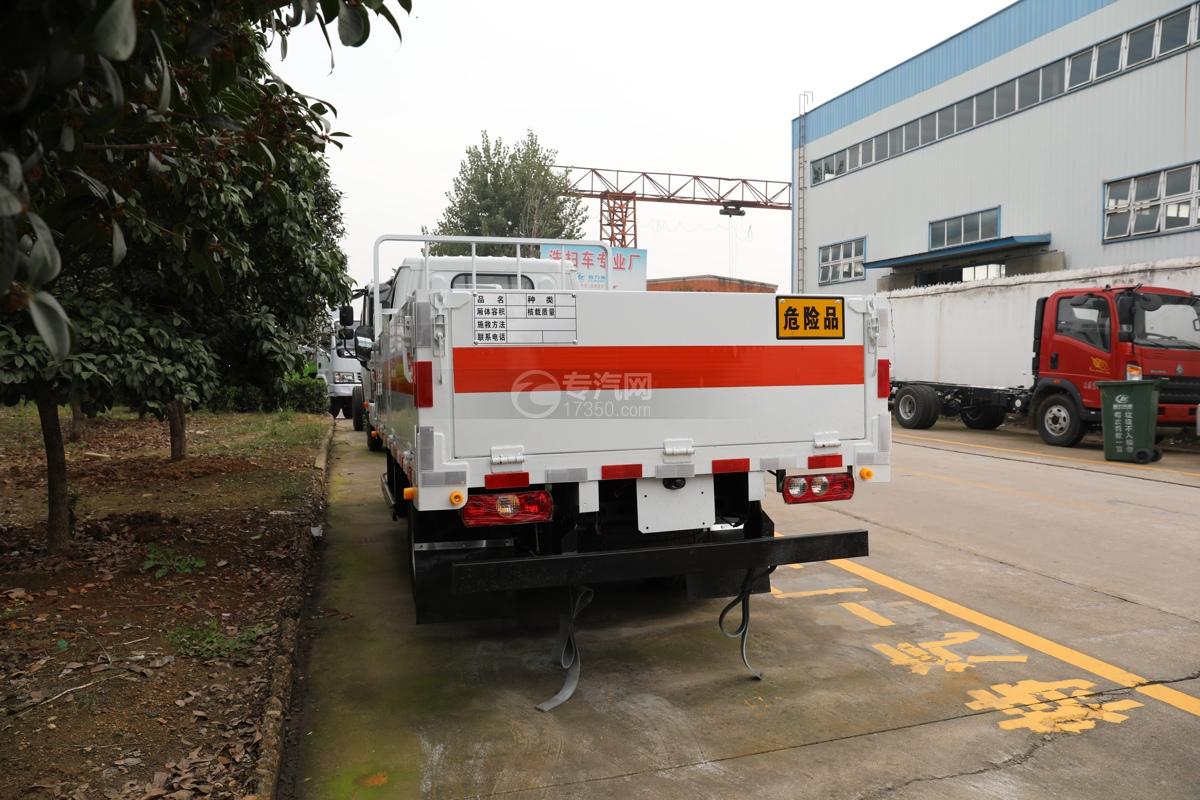 跃进福运S80国六3.36米气瓶运输车(仓栏式)车尾图