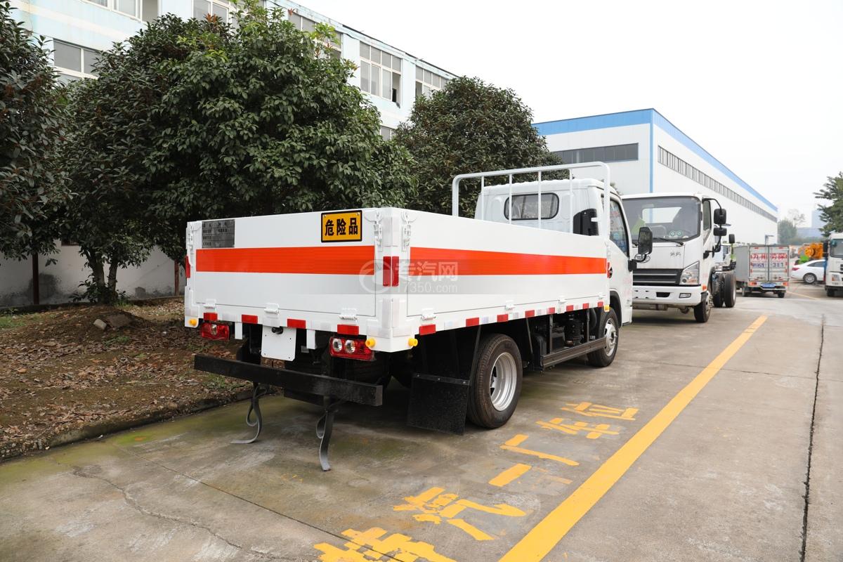 跃进福运S80国六3.36米气瓶运输车(仓栏式)右后图