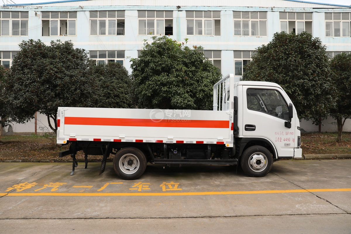 跃进福运S80国六3.36米气瓶运输车(仓栏式)右侧图