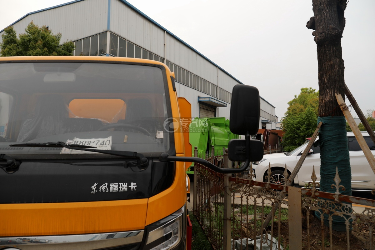 东风福瑞卡F6国六3.3方清洗吸污车后视镜