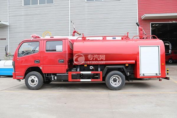 东风多利卡D6双排国六3.7方消防洒水车左侧图