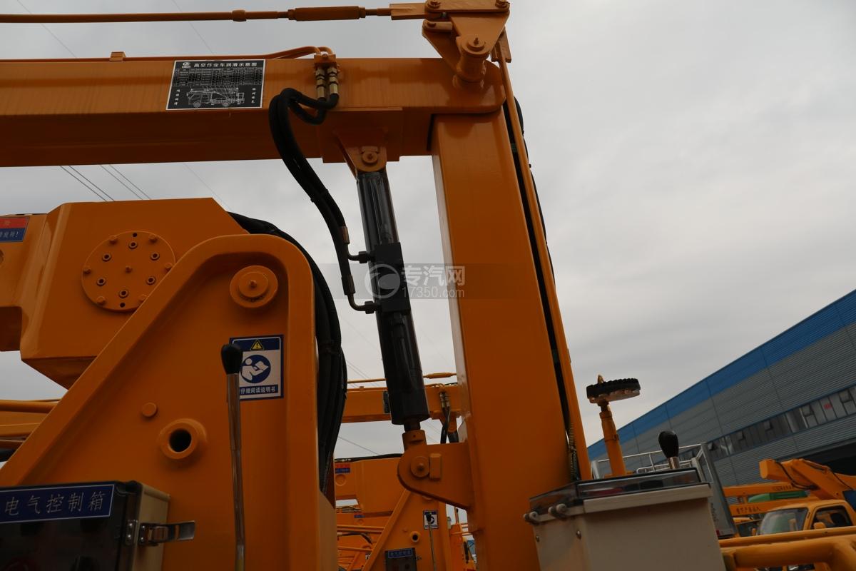 江淮康铃H3国六13.5米折叠臂式高空作业车油缸