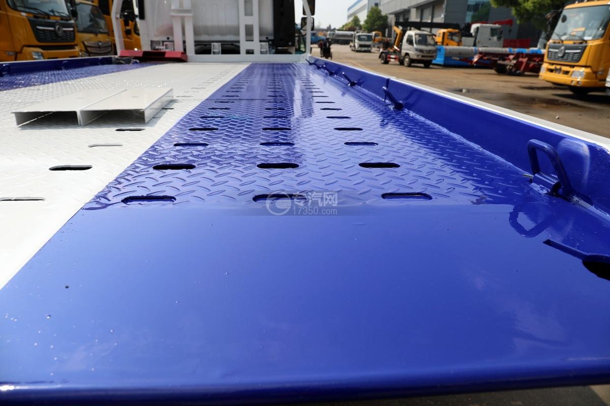 慶鈴五十鈴KV100國六一拖二藍牌清障車(白色)板面細節