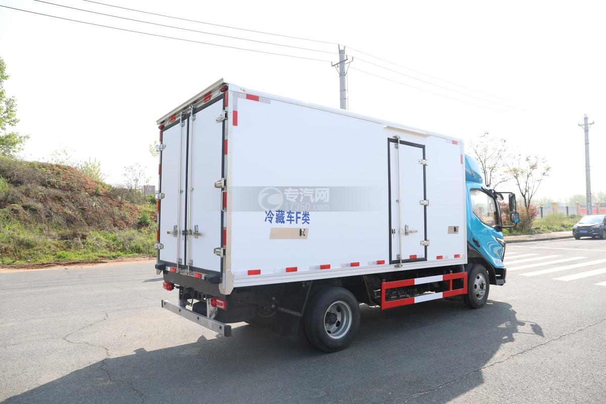 飞碟W5国六蓝牌4.085米冷藏车右后图