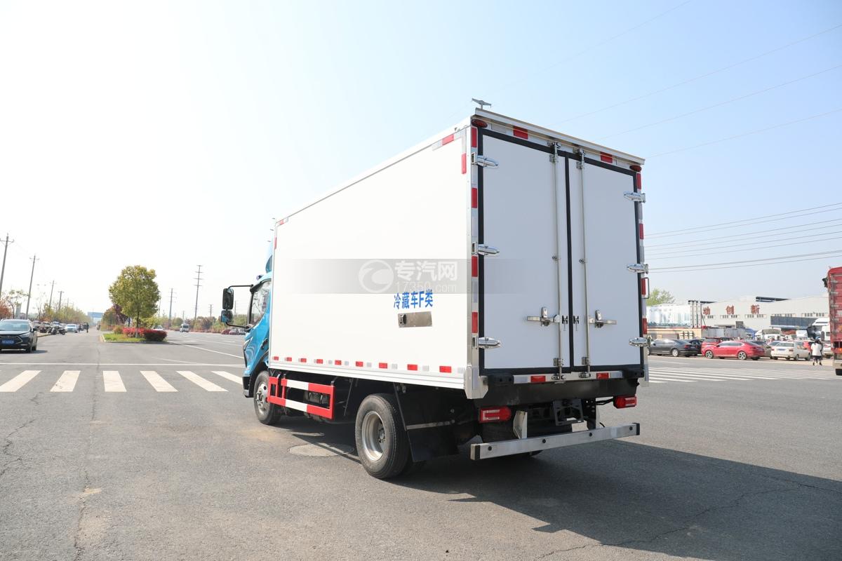 飞碟W5国六蓝牌4.085米冷藏车左后图