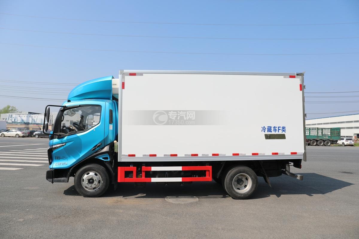 飞碟W5国六蓝牌4.085米冷藏车左侧图