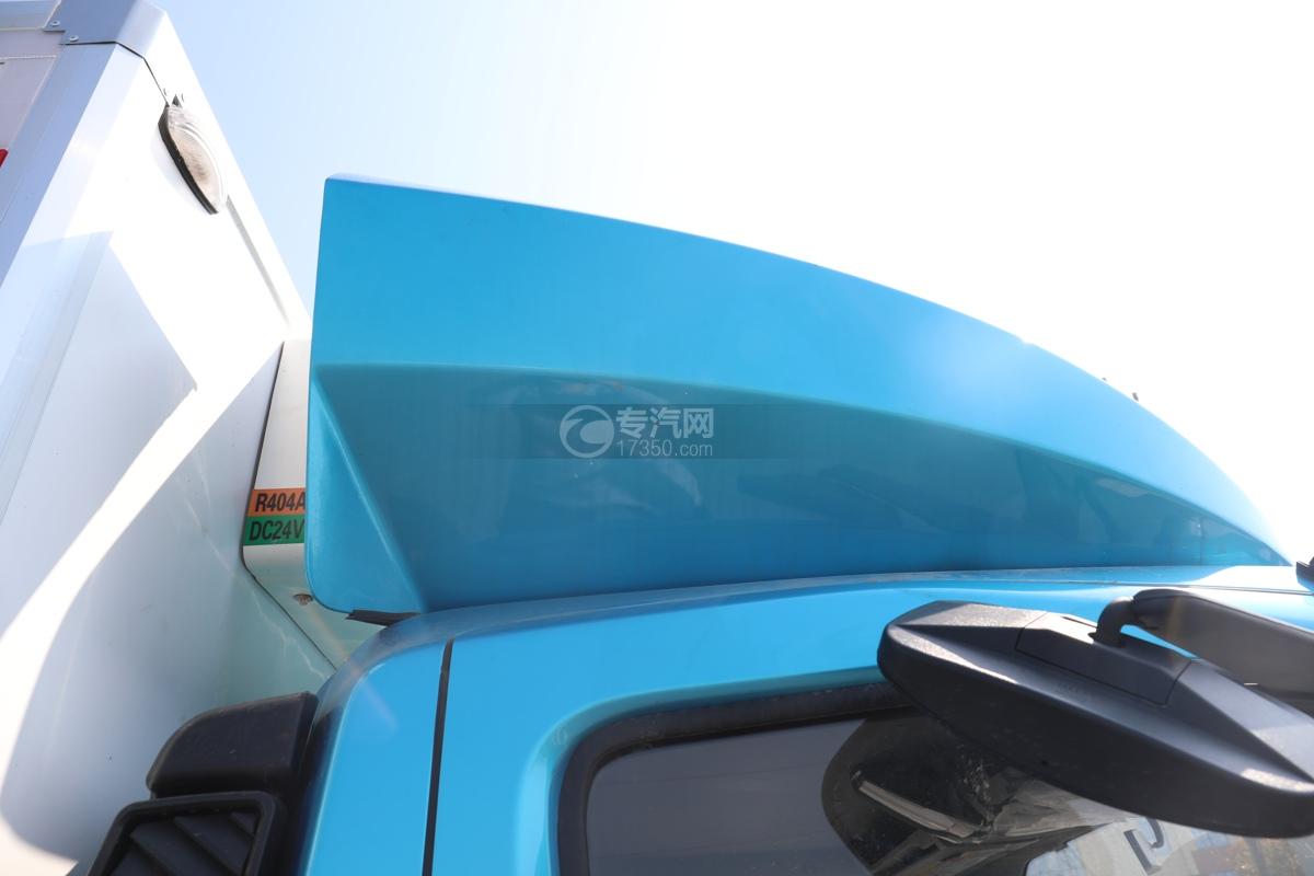 飞碟W5国六蓝牌4.085米冷藏车导流罩