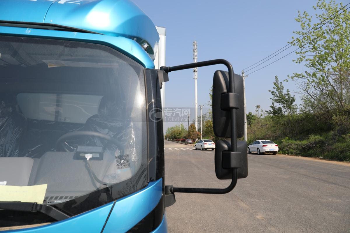 飞碟W5国六蓝牌4.085米冷藏车左后视镜