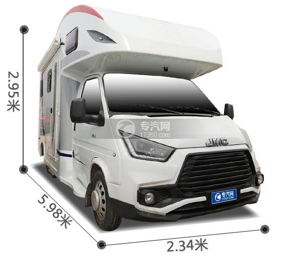 江铃特顺国六C型房车外形尺寸图