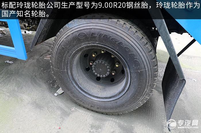 东风随专K6国六摆臂式垃圾车评测轮胎