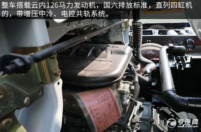 东风福瑞卡F6国六3.75方吸污车评测发动机