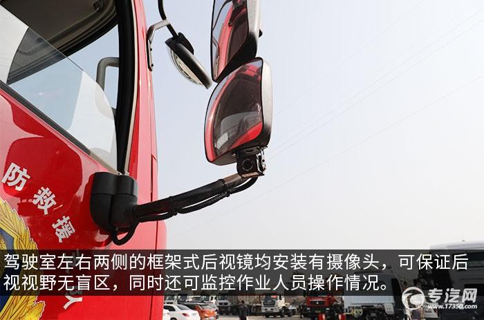 东风天锦VR单桥国六救援加油车评测后视镜