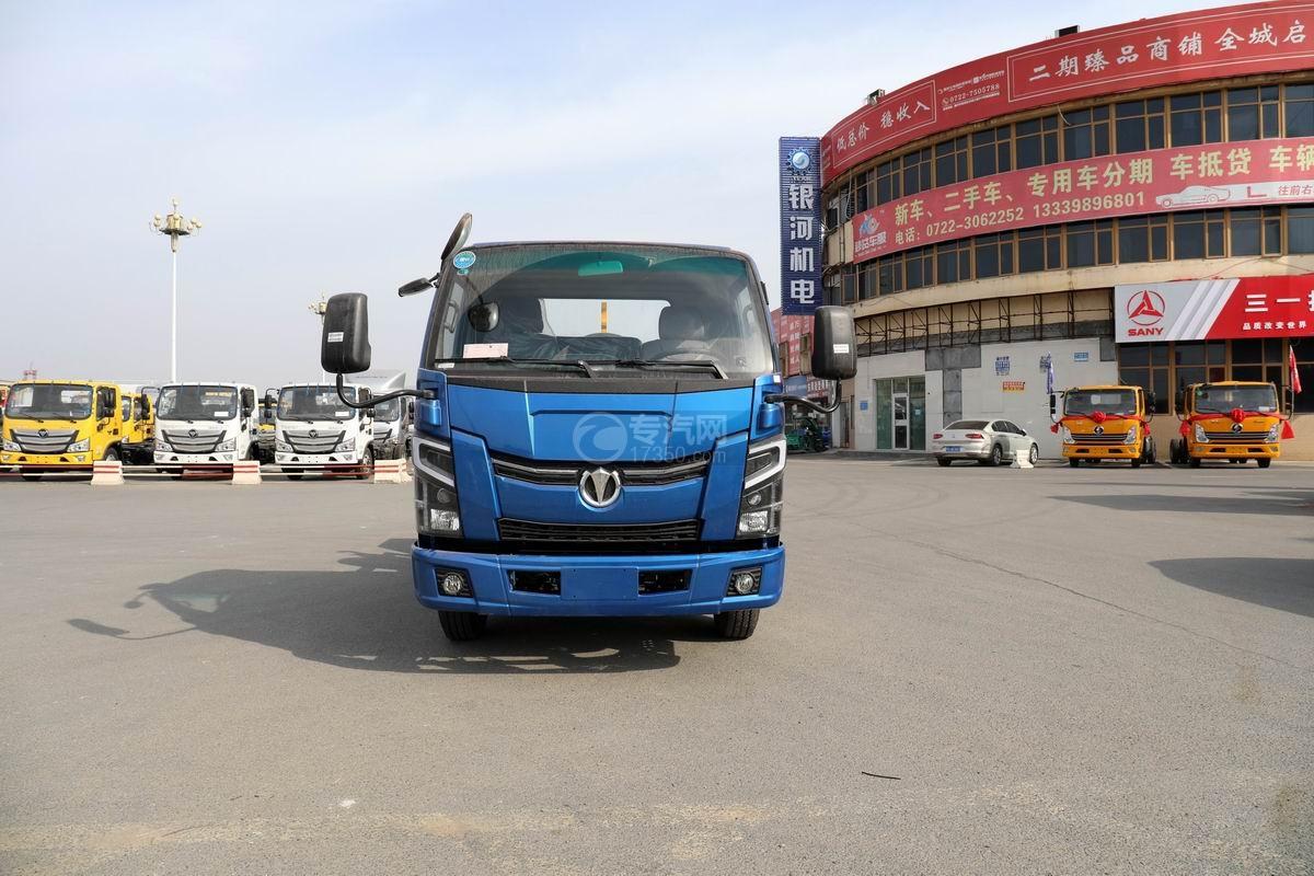 奧馳X2國六車廂可卸式垃圾車正前方圖