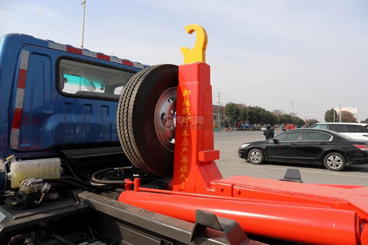奧馳X2國六車廂可卸式垃圾車上裝勾臂