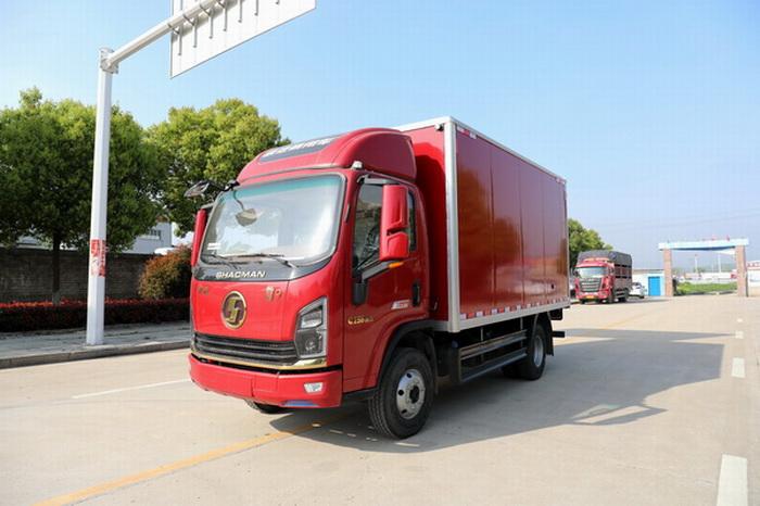 陕汽轩德翼9国六4.15米蓝牌厢式车配置展示视频