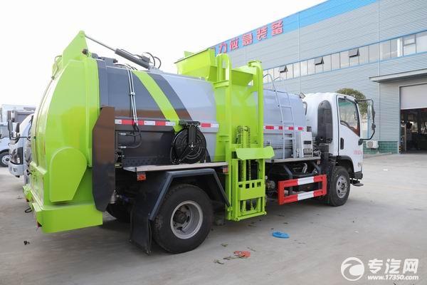 陜汽軒德X9國六廂式餐廚垃圾車