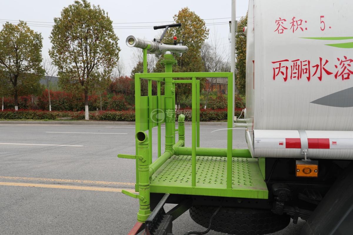 陕汽轩德X9国六5方绿化喷洒车工作平台