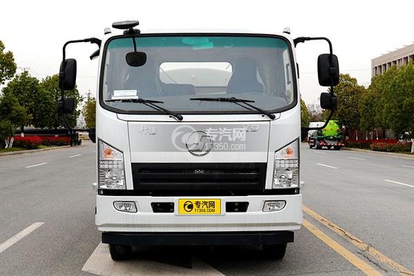 陕汽轩德X9国六5方绿化喷洒车车前图