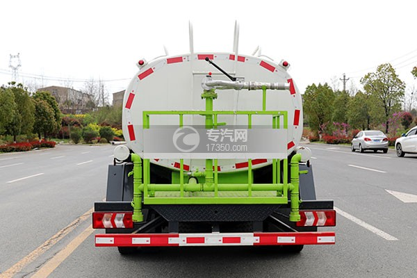 陕汽轩德X9国六5方绿化喷洒车车尾图