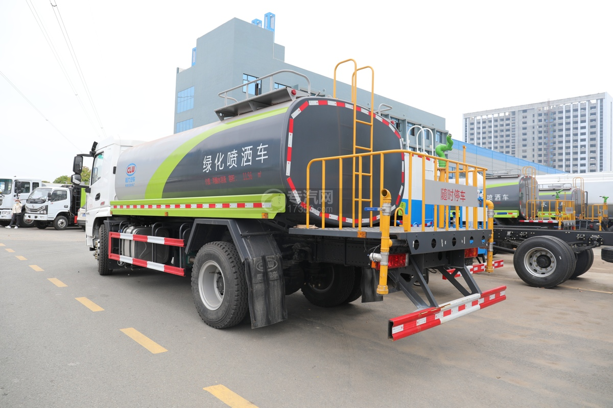陕汽轩德翼6国六11.56方绿化喷洒车左后图