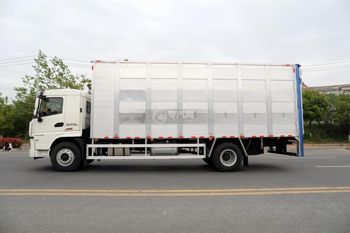 陕汽轩德翼6单桥国六铝合金畜禽运输车左侧图