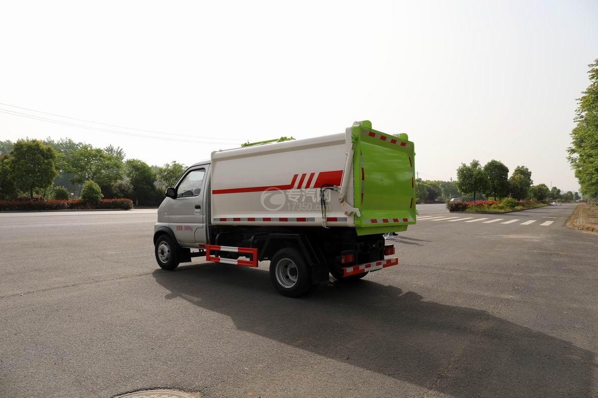 开瑞国六自装卸式垃圾车侧后方图
