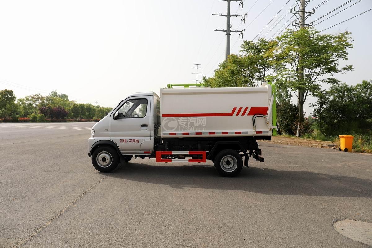 开瑞国六自装卸式垃圾车侧面图