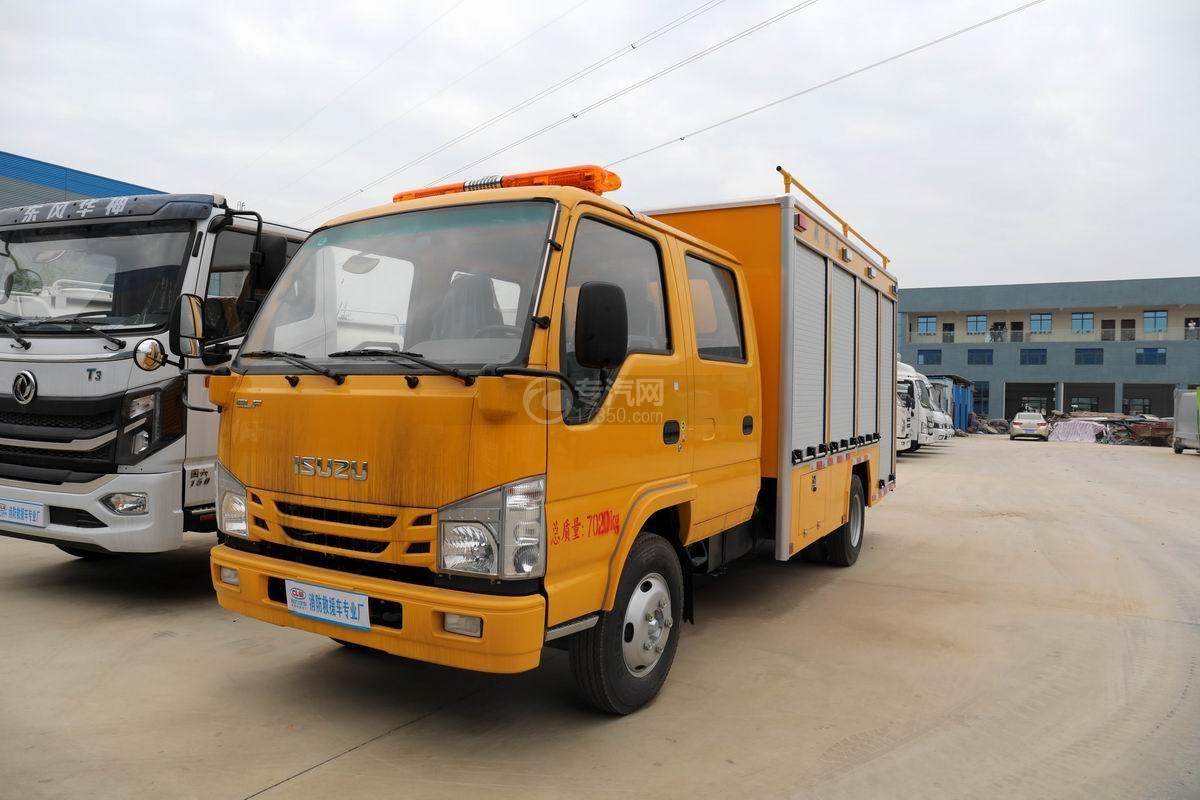 慶鈴五十鈴ELF雙排國六黃牌救險車